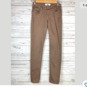 Paige verdugo ultra skinny jeans brown low rise 24